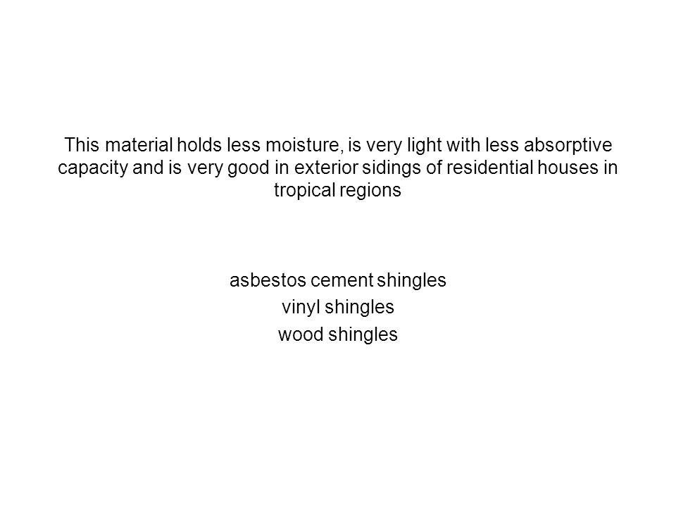 asbestos cement shingles