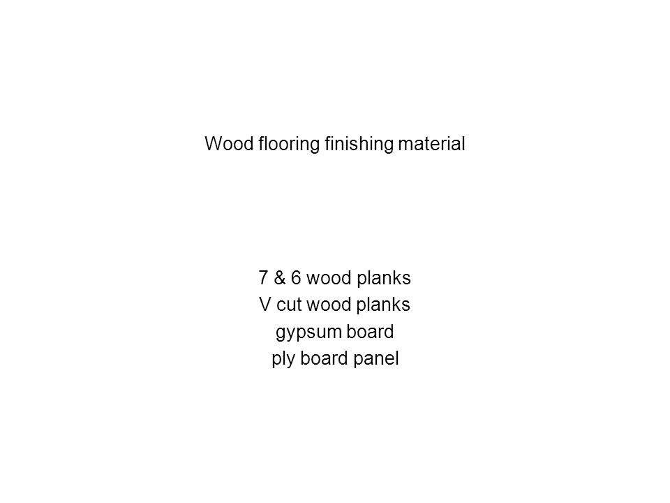 Wood flooring finishing material