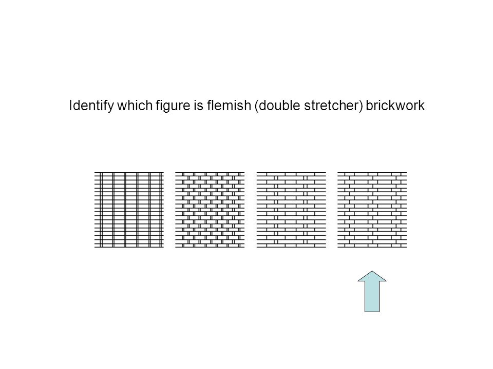 Identify which figure is flemish (double stretcher) brickwork