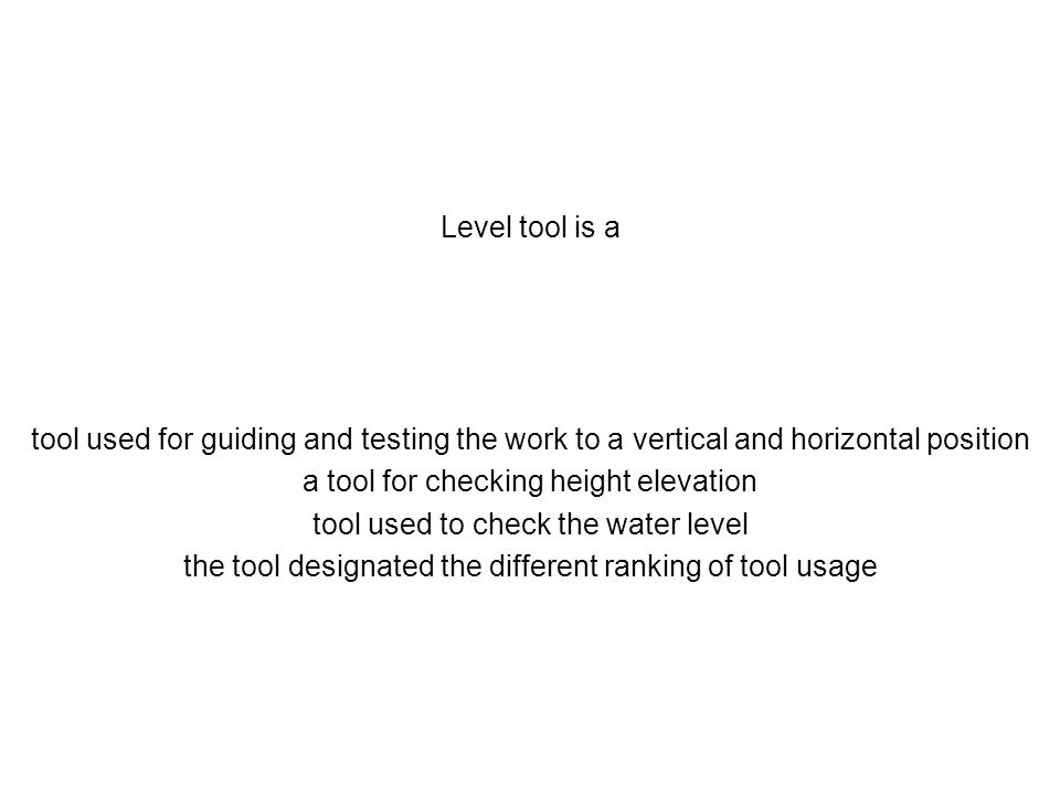 a tool for checking height elevation