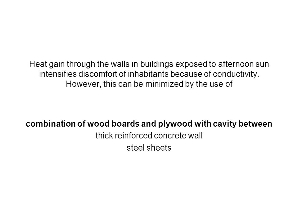 combination of wood boards and plywood with cavity between