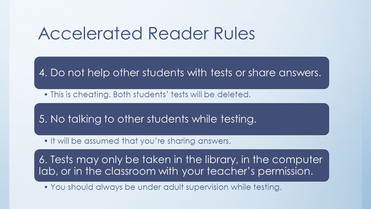 Accelerated Reader Rules
