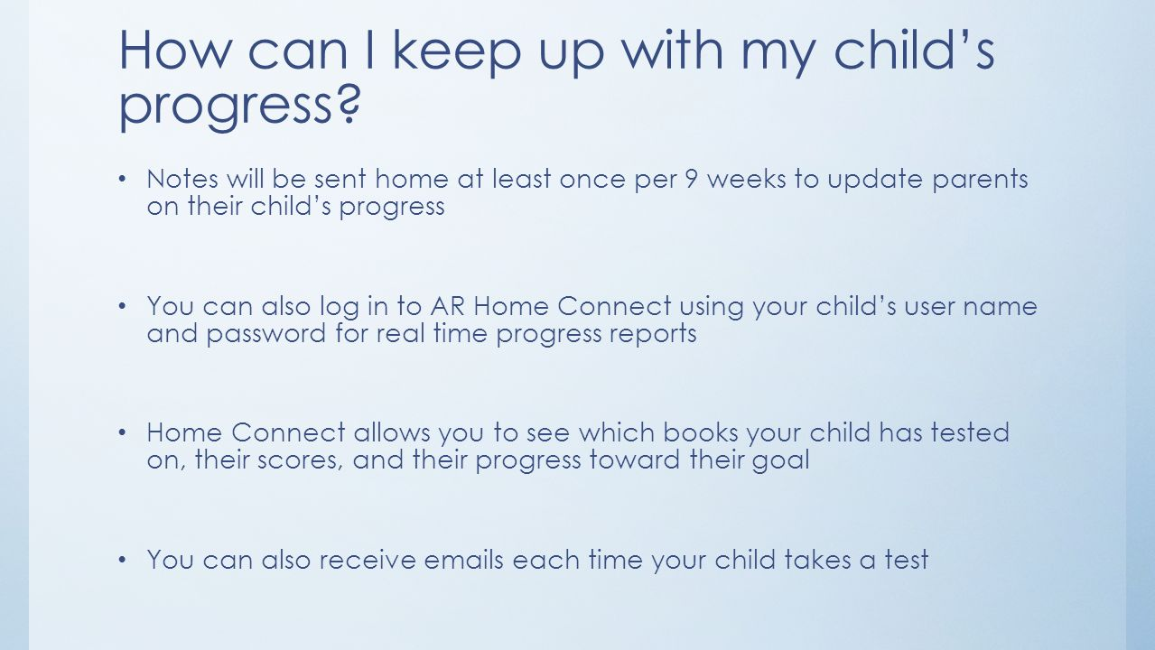 How can I keep up with my child's progress