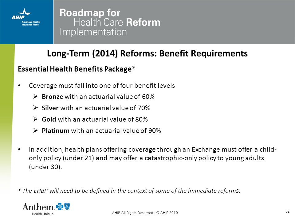 Long-Term (2014) Reforms: Benefit Requirements