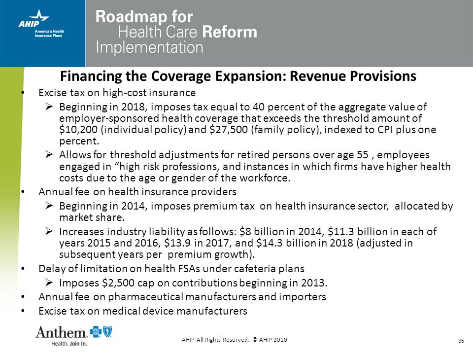 Financing the Coverage Expansion: Revenue Provisions