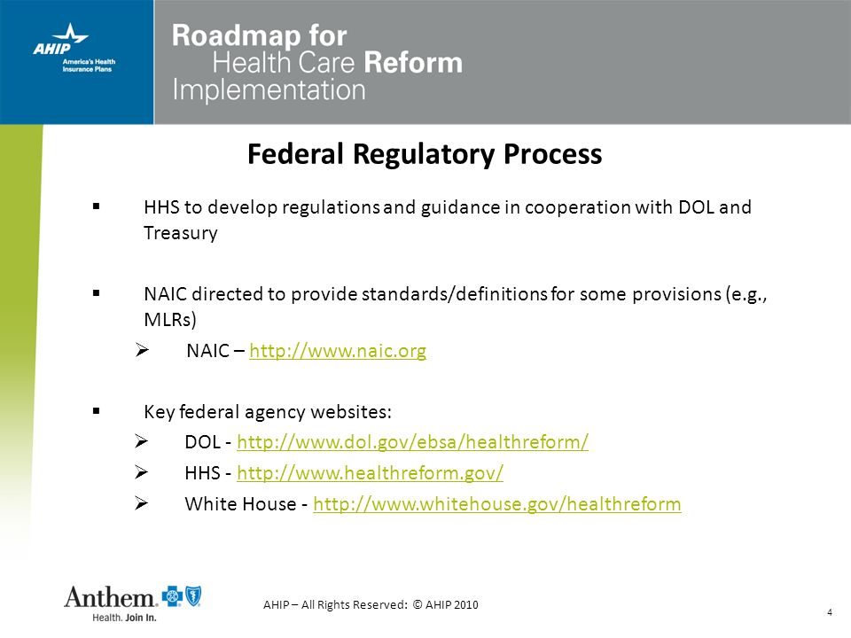 Federal Regulatory Process