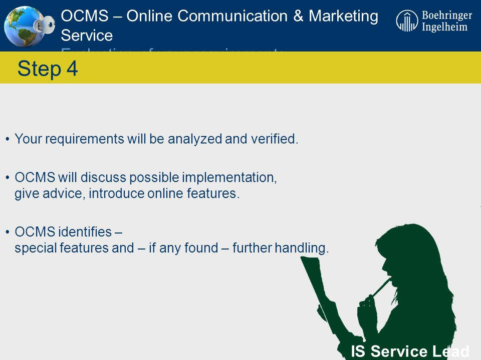 OCMS – Online Communication & Marketing Service Evaluation of your requirements