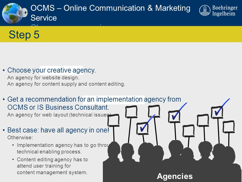 OCMS – Online Communication & Marketing Service Choose your agencies