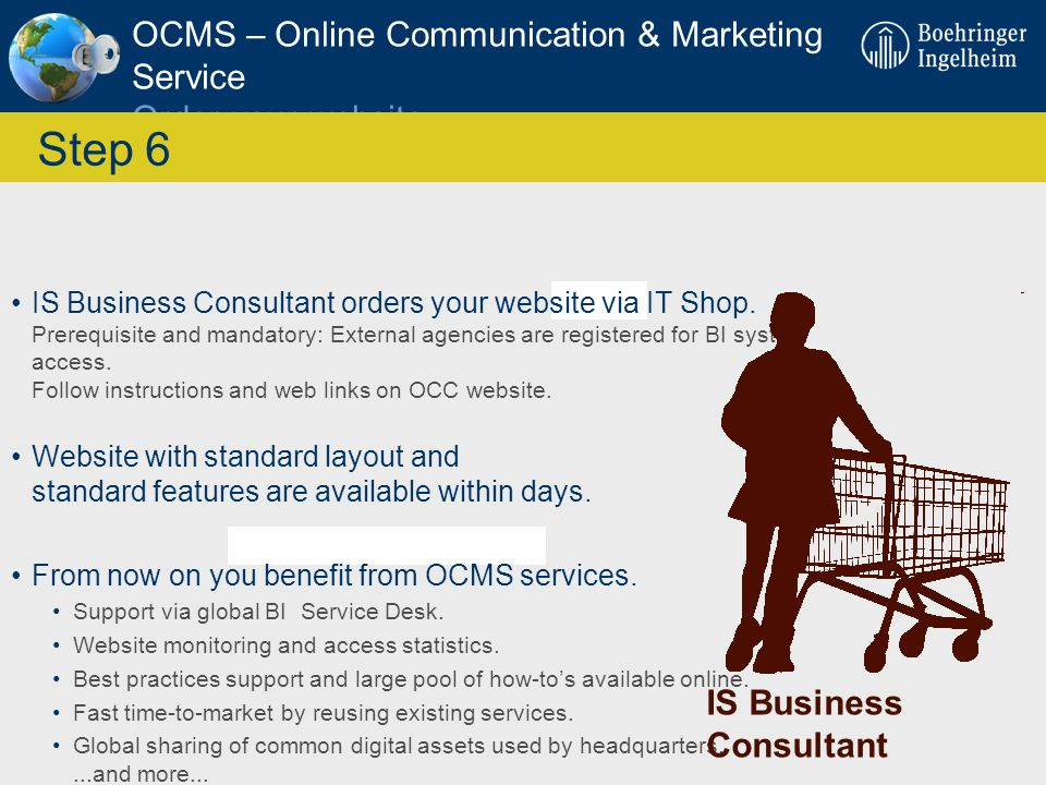 OCMS – Online Communication & Marketing Service Order your website