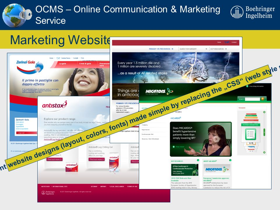Marketing Websites OCMS – Online Communication & Marketing Service