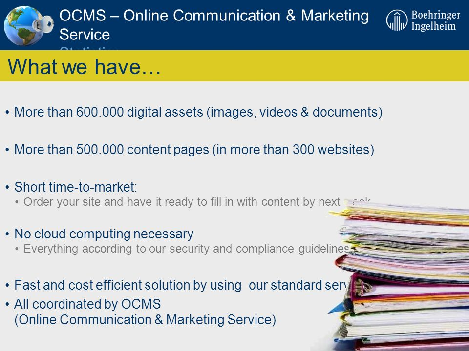 OCMS – Online Communication & Marketing Service Statistics