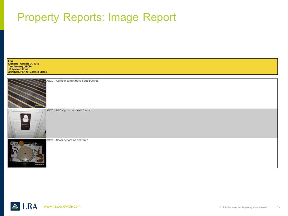 Property Reports: Image Report