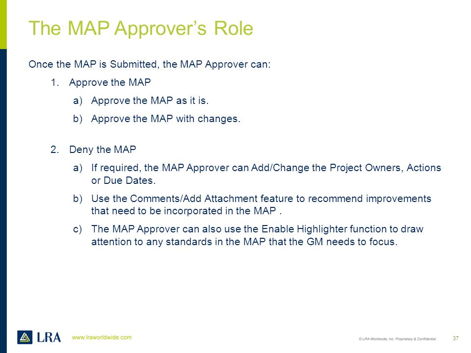 The MAP Approver's Role