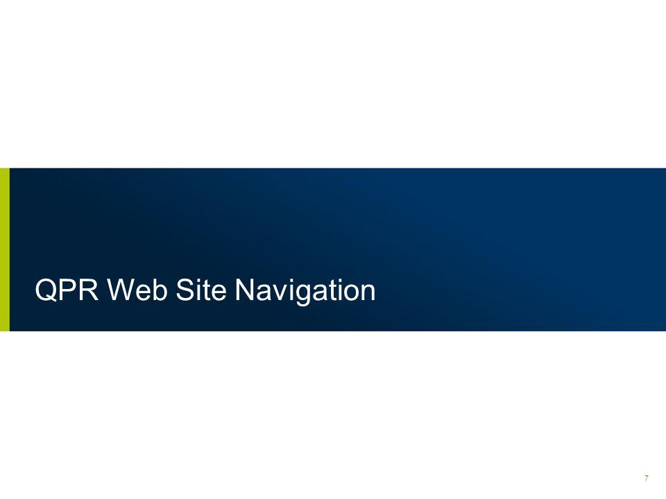 QPR Web Site Navigation
