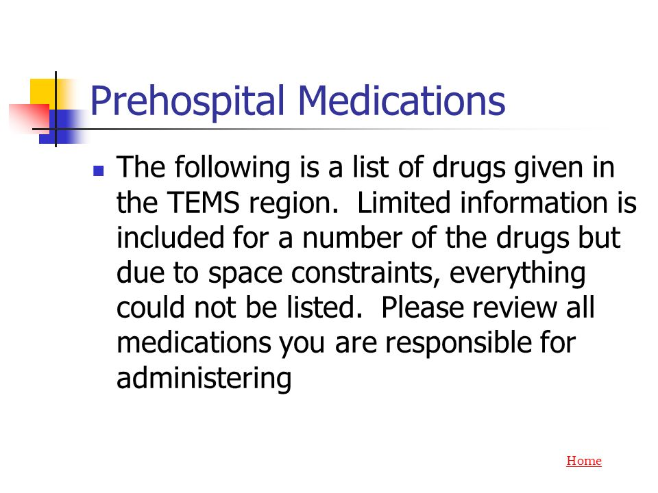 Prehospital Medications