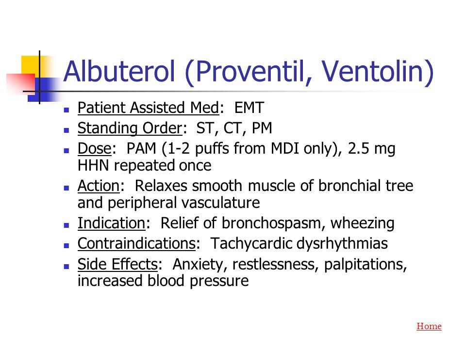 Albuterol (Proventil, Ventolin)