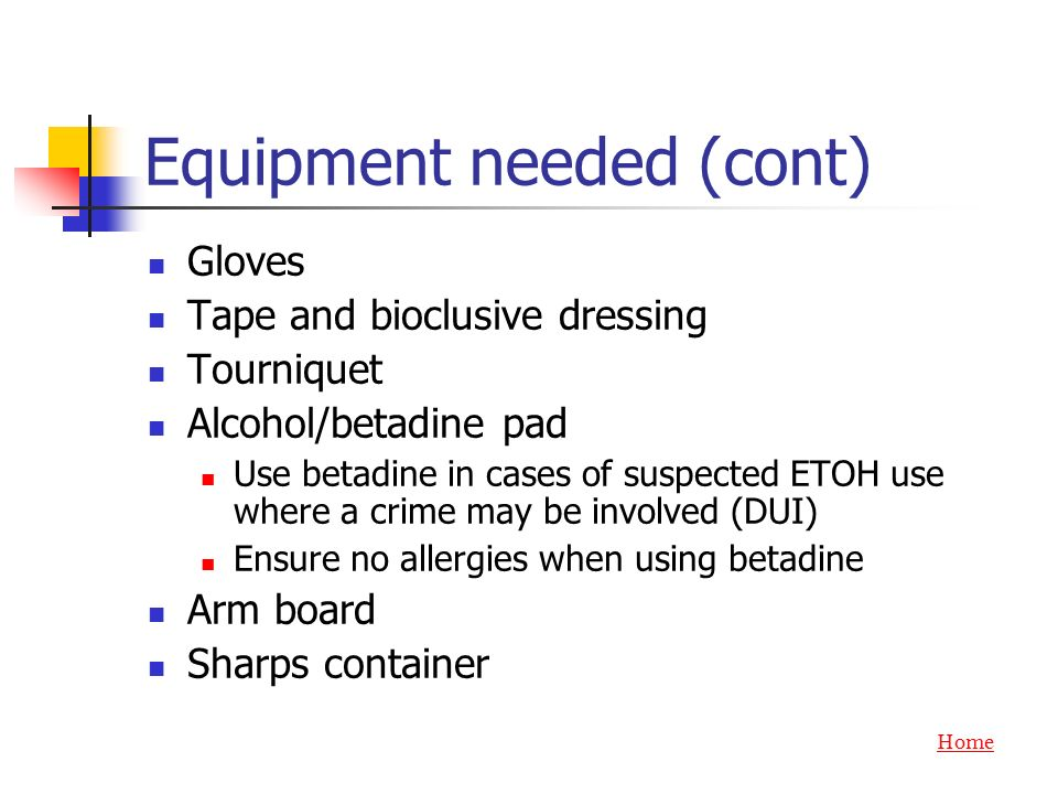 Equipment needed (cont)