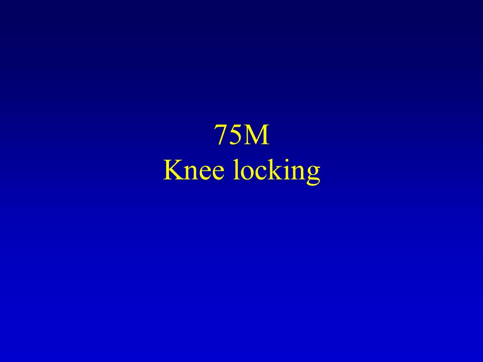 75M Knee locking