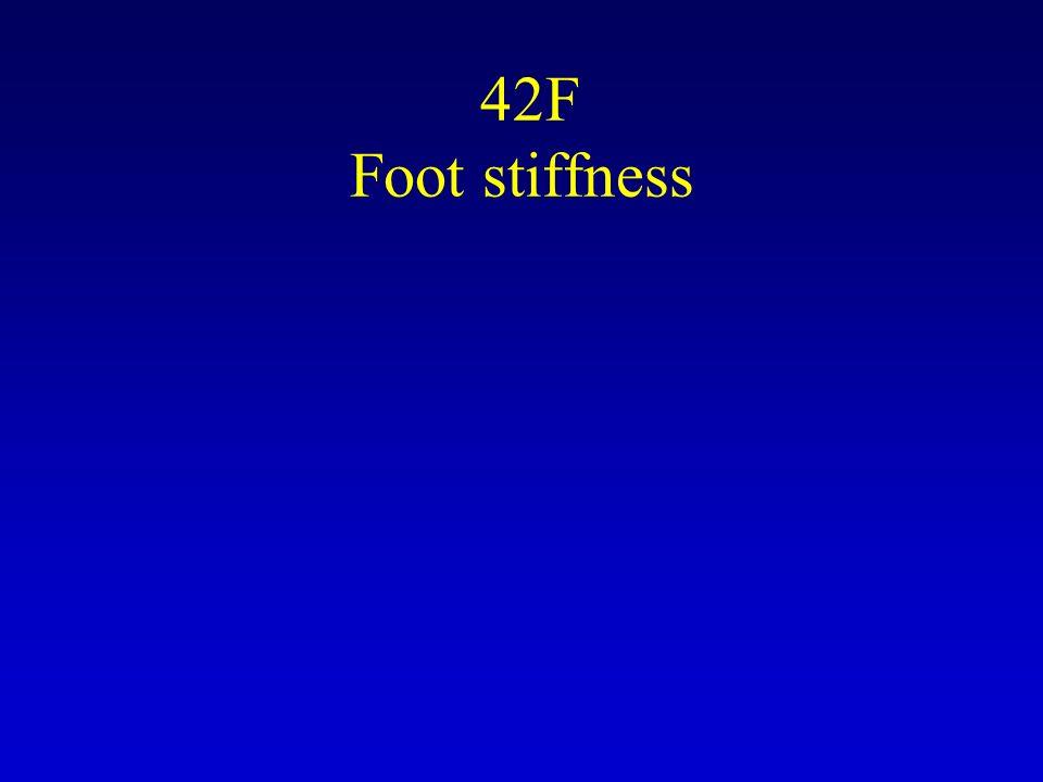 42F Foot stiffness