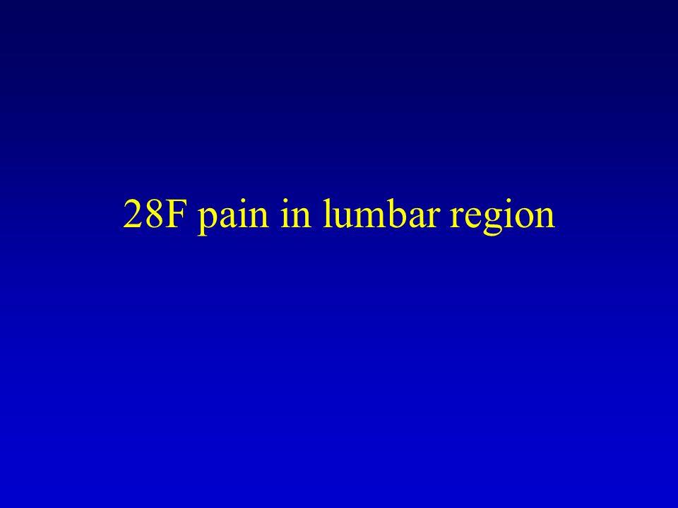 28F pain in lumbar region