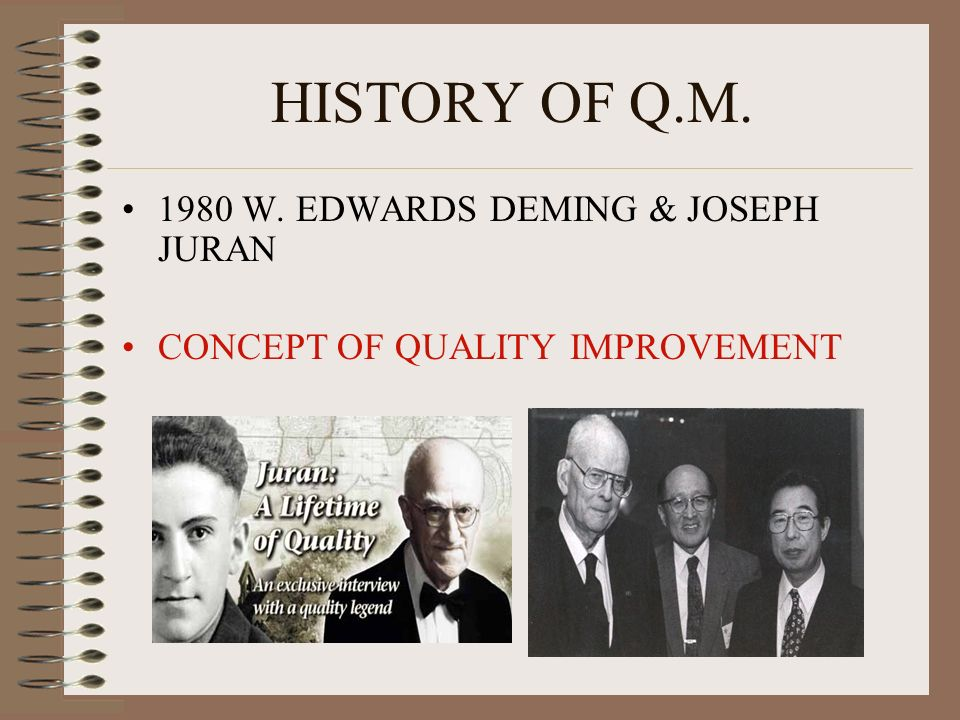 HISTORY OF Q.M W. EDWARDS DEMING & JOSEPH JURAN