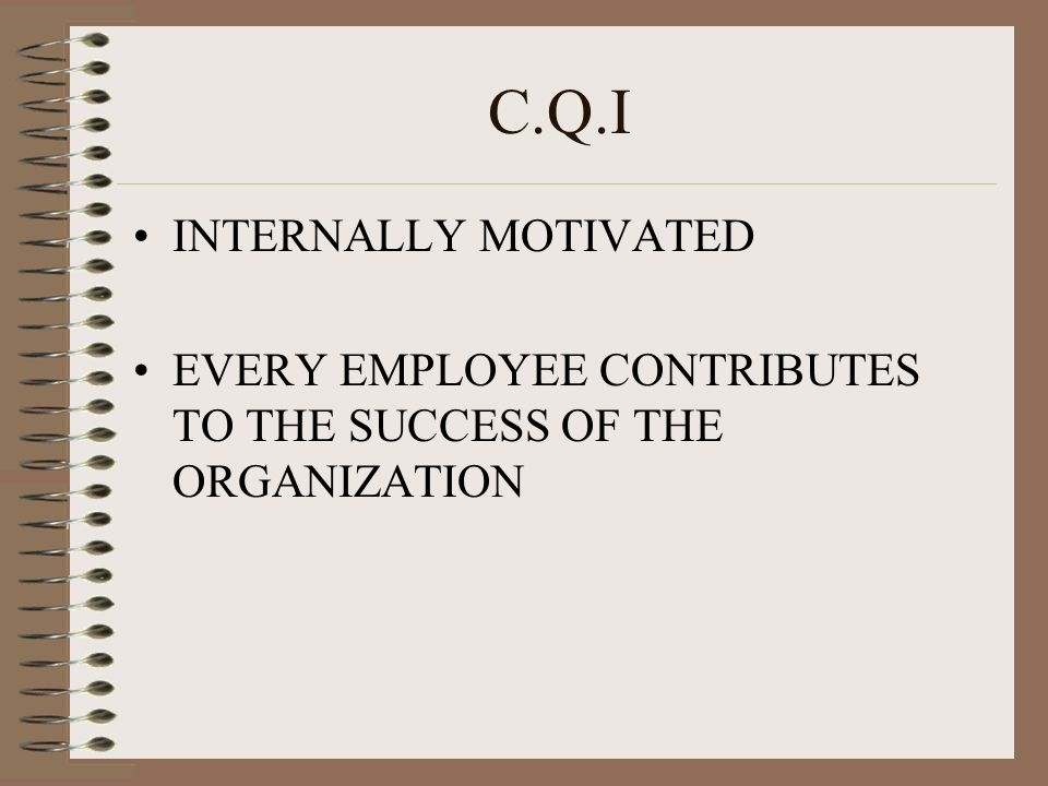 C.Q.I INTERNALLY MOTIVATED