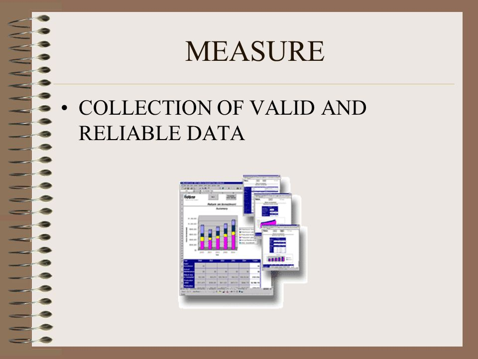 MEASURE COLLECTION OF VALID AND RELIABLE DATA