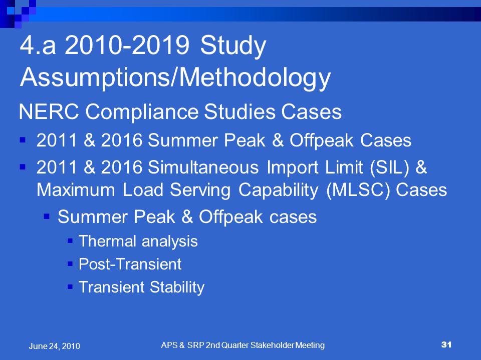 4.a 2010-2019 Study Assumptions/Methodology