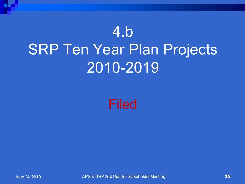 4.b SRP Ten Year Plan Projects 2010-2019