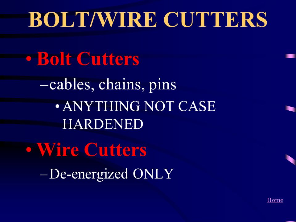 BOLT/WIRE CUTTERS Bolt Cutters Wire Cutters cables, chains, pins