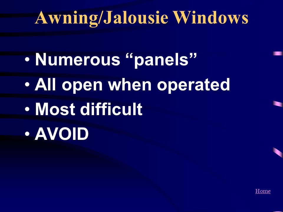 Awning/Jalousie Windows
