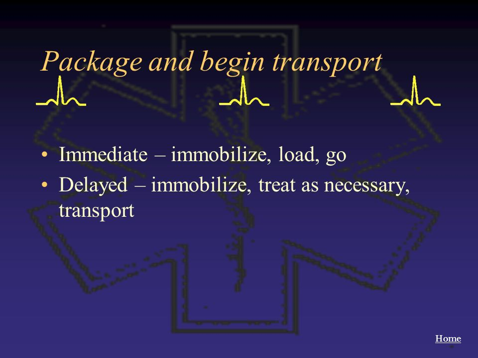 Package and begin transport