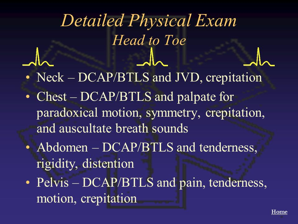 Detailed Physical Exam Head to Toe