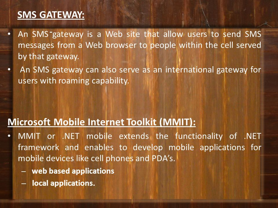 Microsoft Mobile Internet Toolkit (MMIT):