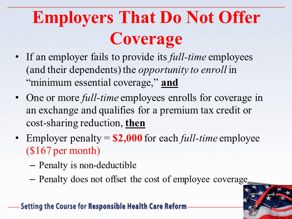 Employers That Do Not Offer Coverage