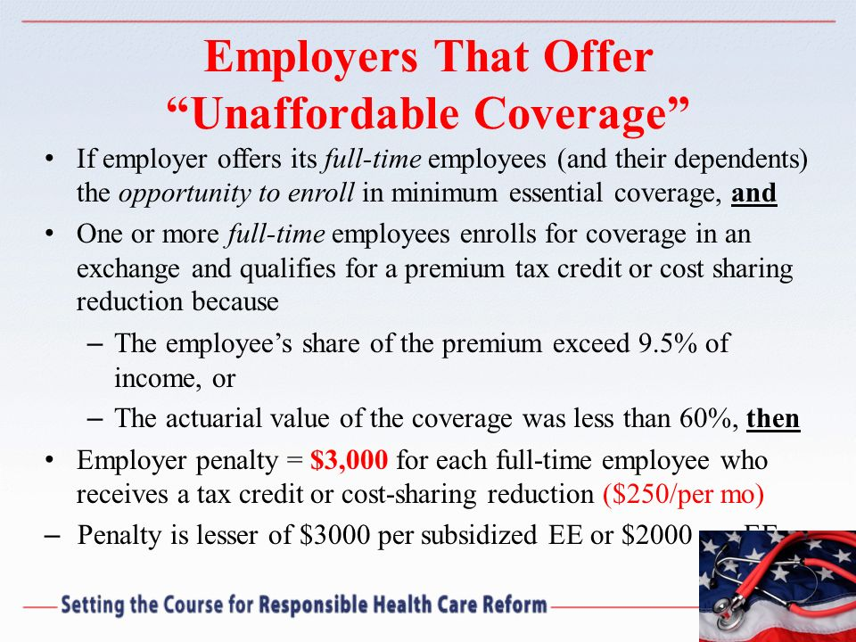 Employers That Offer Unaffordable Coverage