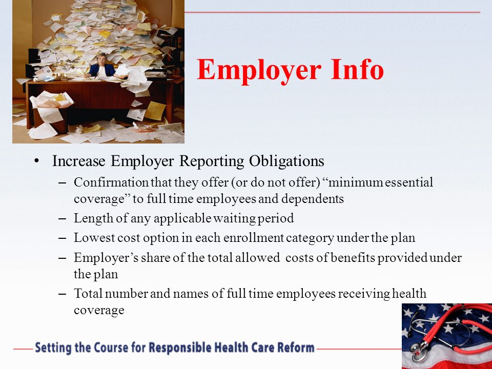 Employer Info Increase Employer Reporting Obligations