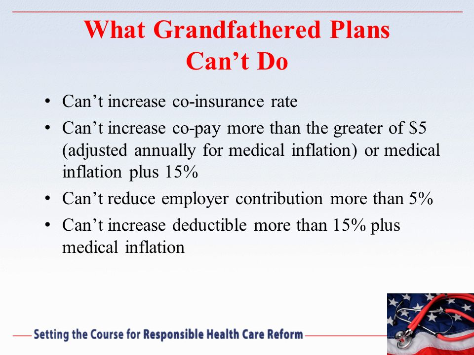 What Grandfathered Plans Can't Do