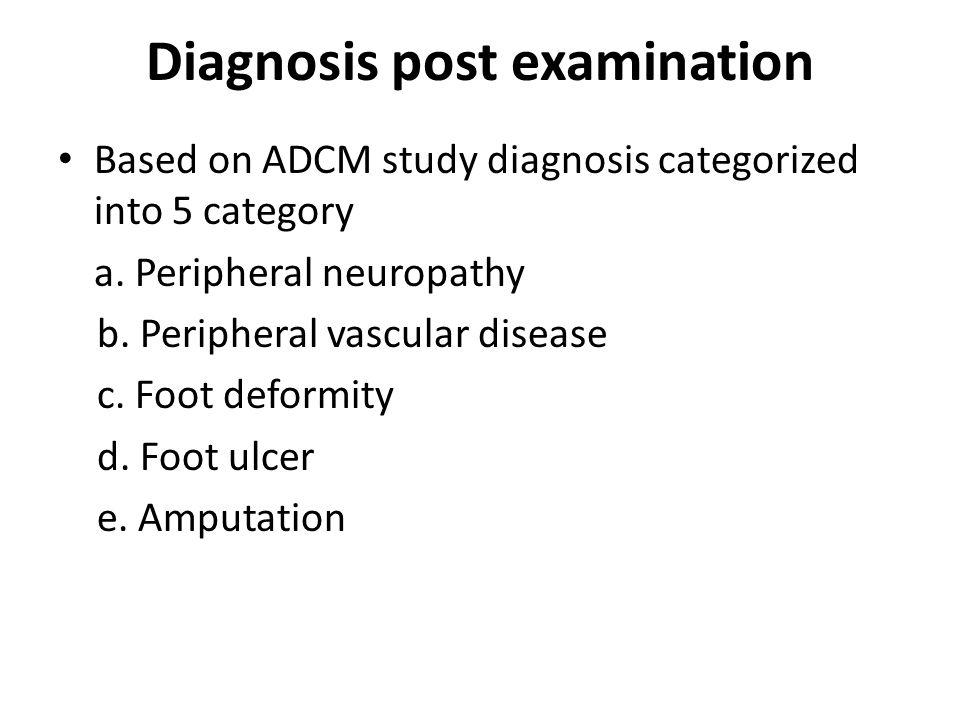 Diagnosis post examination
