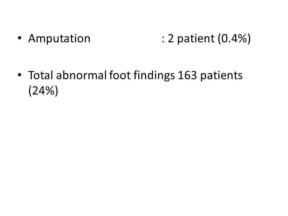 Amputation : 2 patient (0.4%)