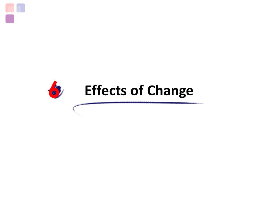 6 Effects of Change