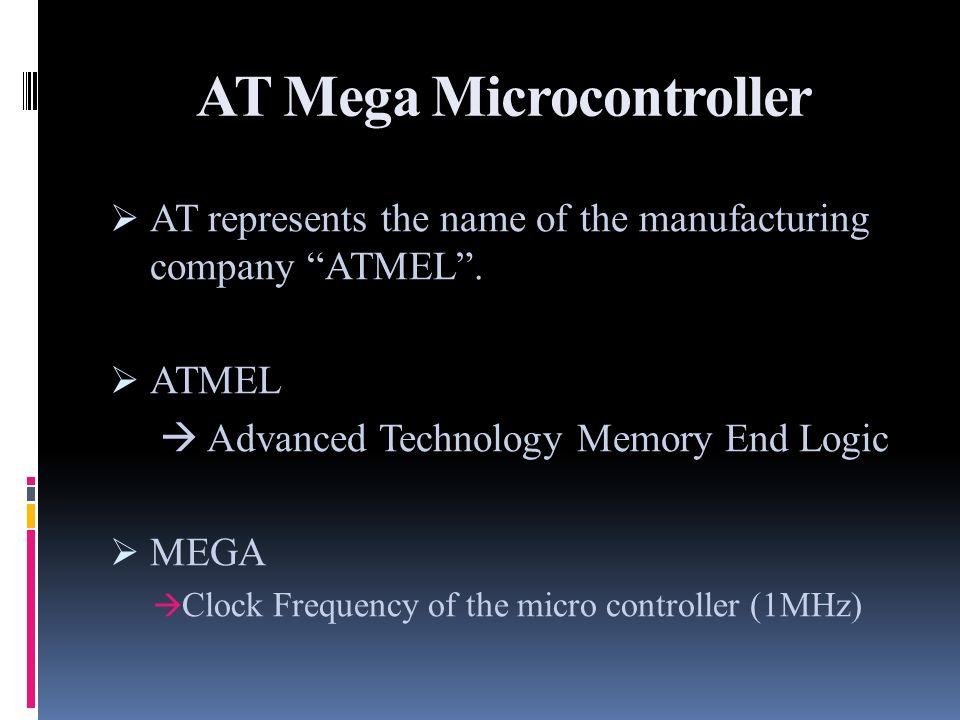 AT Mega Microcontroller