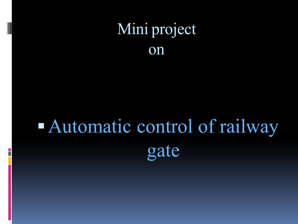 Automatic control of railway gate