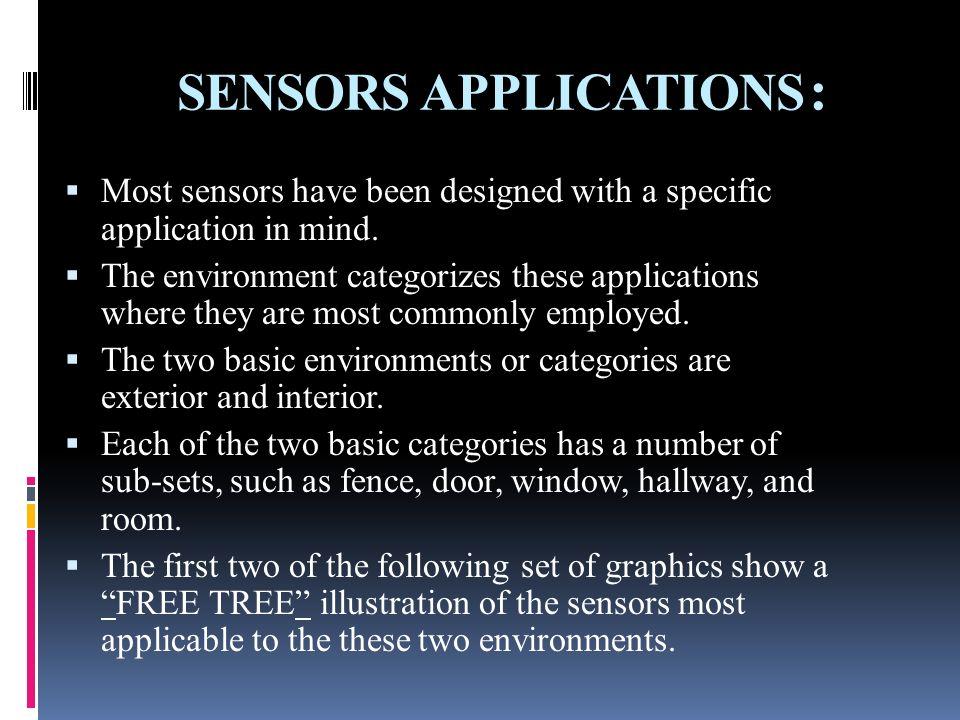 SENSORS APPLICATIONS: