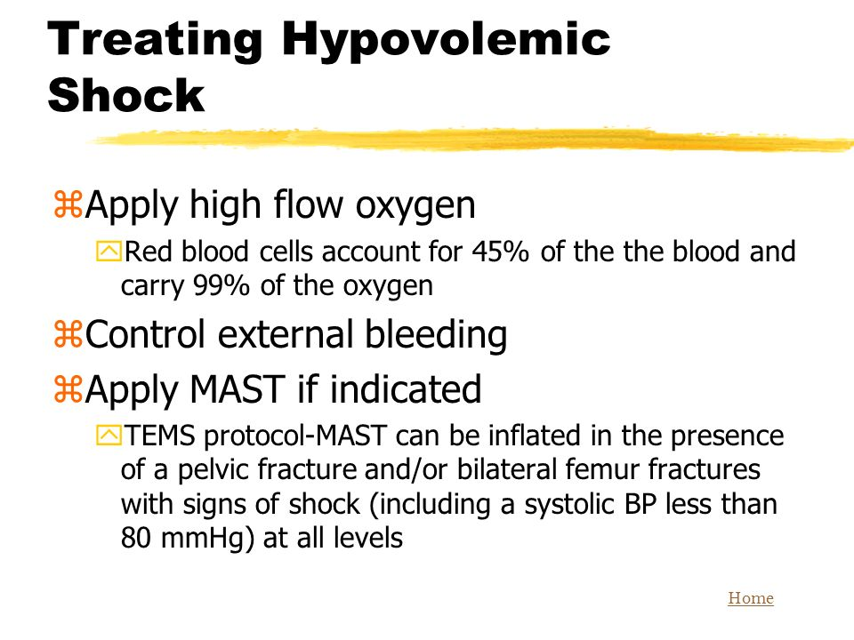 Treating Hypovolemic Shock