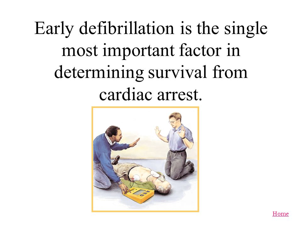 Early defibrillation is the single most important factor in determining survival from cardiac arrest.