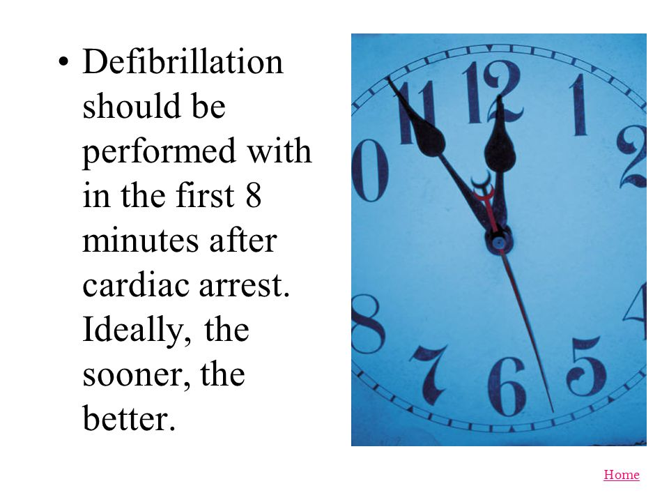 Defibrillation should be performed with in the first 8 minutes after cardiac arrest.