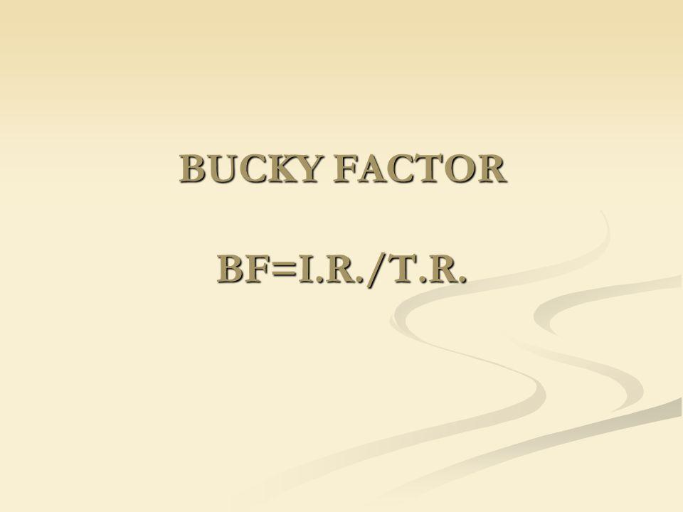 BUCKY FACTOR BF=I.R./T.R.
