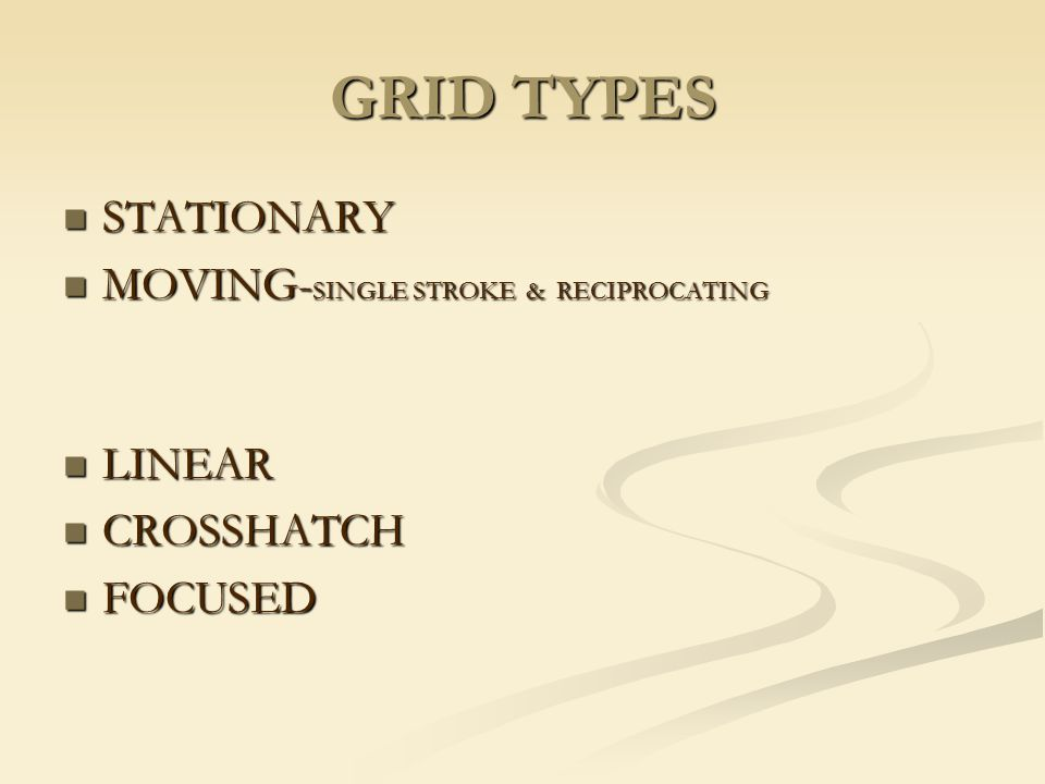 GRID TYPES STATIONARY MOVING-SINGLE STROKE & RECIPROCATING LINEAR