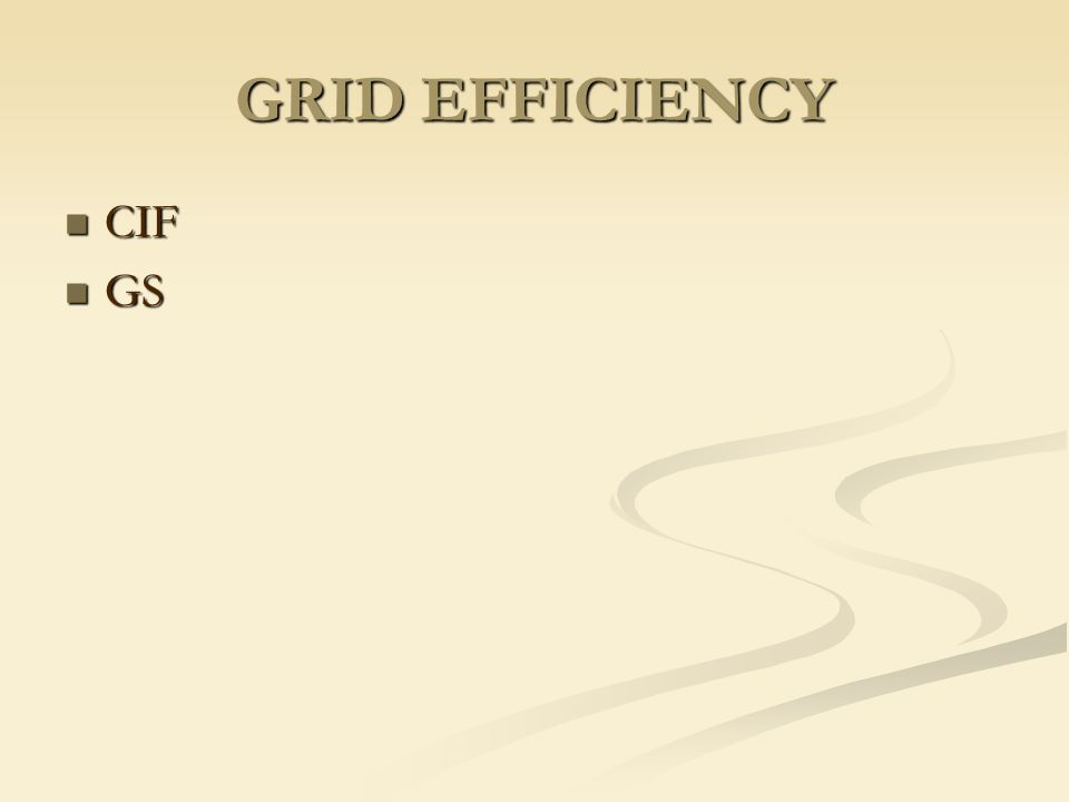 GRID EFFICIENCY CIF GS